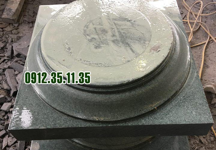 đá kê cột đá xanh rêu