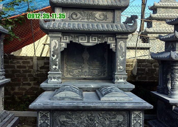 Mẫu mộ đá đẹp có mái che