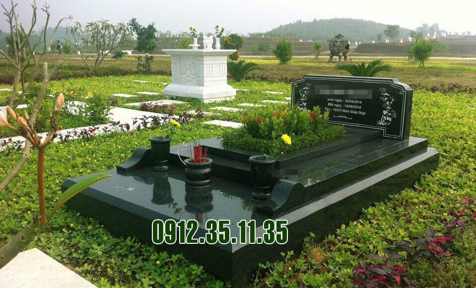 mộ xanh rêu không hoa văn