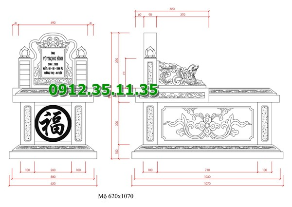 Bản vẽ mộ tam sơn