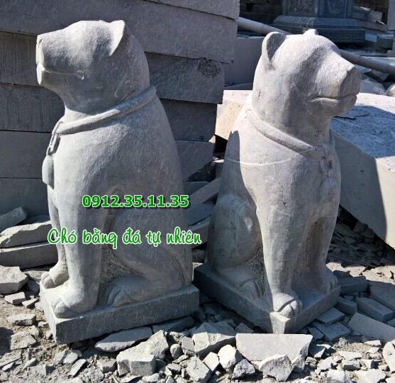 tượng chó bằng đá