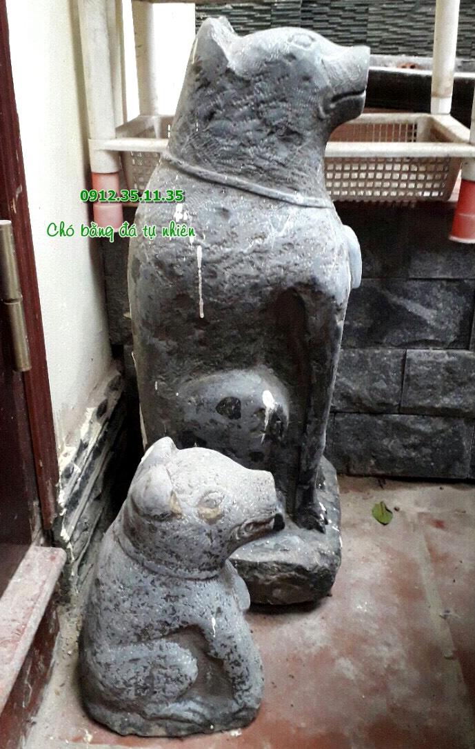 Mẫu chó đá phong thủy