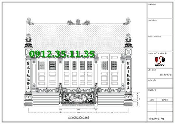 Bản vẽ thiết kế nhà thờ đá
