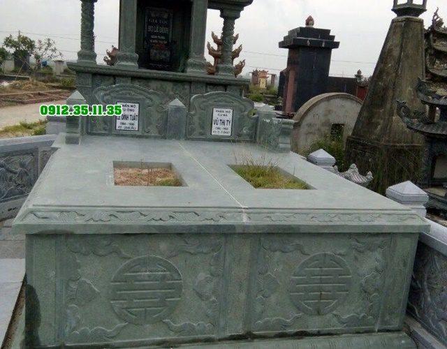 mộ đá đôi đá xanh rêu